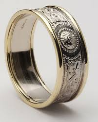 mens celtic wedding rings mens celtic shield rings in sterling silver center and 10ky gold trim