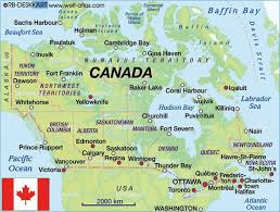 canada states map map of canada a list