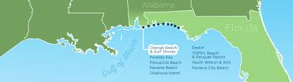 Map Of Florida And Alabama by Resortquest Real Estate Nw Fl U0026 Al Gulf Coast Condos And Homes