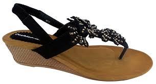 cushion walk cushion walk womens elasticated back strap sandals in