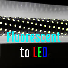 how to convert to led lights convert fluorescent light fixture to led aquarium
