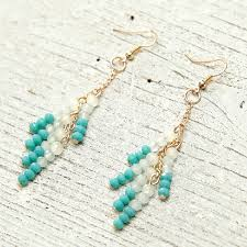 drop bead blue drop earrings wedding ewaer038 as low as 35