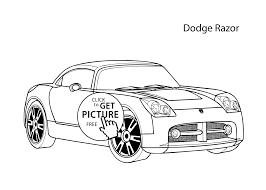 car dodge eazor coloring cool car printable free