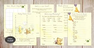 winnie the pooh etsy printable winnie the pooh baby shower game package classic