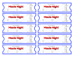 halloween horror nights ticket movie night invitation template editable