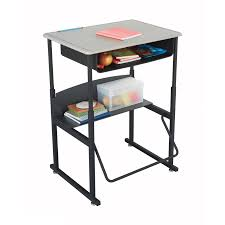 Height Adjustable Desks by Alphabetter Stand Up Desk U2013 Standard With Book Box U2013 Ergoking