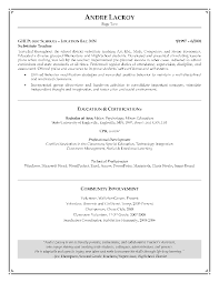 Teacher Resume Examples An Example Of Resume For Teachers