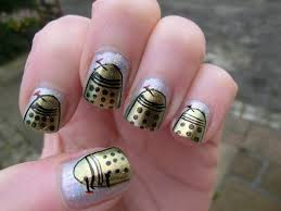 imperfect art inspired from science fiction nail art