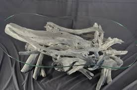 Glass Coffee Tables by Hand Crafted Sun Bleached Driftwood And Glass Coffee Table By