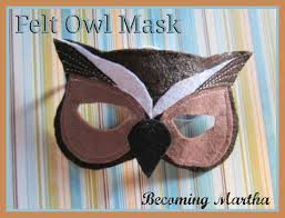 Owl Halloween Costume Pattern Becoming Martha Diy Felt Owl Masks