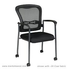 progrid mesh back visitors chair with padded fabric seat