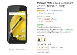 amazon black friday unlocked phone deals deal alert 2nd gen moto e 3g and lte models currently just 90