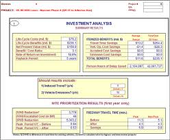 Free Cost Benefit Analysis Template Excel Operations Benefit Cost Analysis Desk Reference Chapter 4