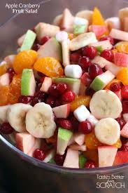 apple cranberry fruit salad tastes better from scratch