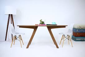 Contemporary Dining Tables by Hand Crafted The Boomerang Mid Century Modern Solid Walnut Dining