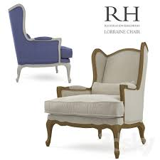 Restoration Hardware Armchair 3d Models Arm Chair Armchair Restoration Hardware Lorraine Chair