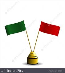 Green Red And White Flag Flags Red And Green Flags Stock Illustration I2792260 At