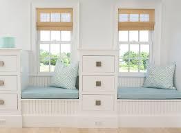 built in window seat beadboard window seat cottage bedroom lynn morgan design