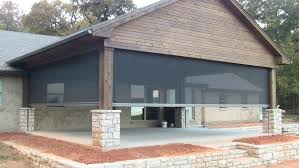 screened porch phantom screen porch synchronized and motorized steed custom homes