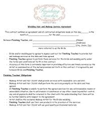 wedding contracts for makeup artists makeup agreement form fill online printable fillable blank
