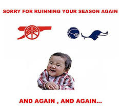 Funny Tottenham Memes - arsenal vs tottenham fansfoot you ll never laugh alone