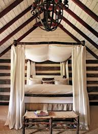 natural rock wall for rustic bedroom ideas with simple bed side black pendant lamp on unusual ceiling right for rustic bedroom ideas with nice double bed closed