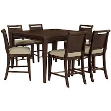Round Black Dining Table City Furniture Canyon Mid Tone High Dining Table