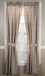 2 Tone Curtains Bristol Plaid Curtain Collection Two Tone Plaid Print Window