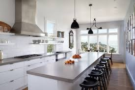 grey and white kitchen ideas modern white kitchen cabinet with elegant black stools using grey