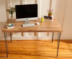 Modern Desks With Drawers Custom Made Mid Century Modern Desk Featuring An Ambrosia Maple