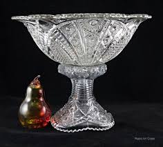 punch bowl vintage glass punch bowl by mckee glass 1950s retro glass