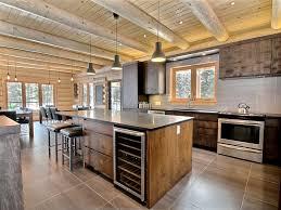 cuisine maison bois étoile au chalet en bois rond