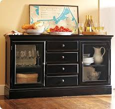 black buffet with marble top