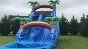 inflatable water slide tropical 20 feet with pool fun brooke and