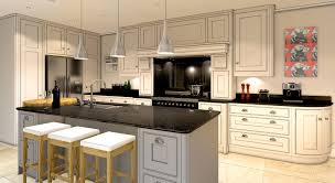 luxury kitchen ideas with black stove and white cabinet 4215