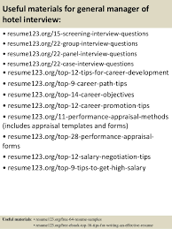 Hotel Resume Sample by Top 8 General Manager Of Hotel Resume Samples