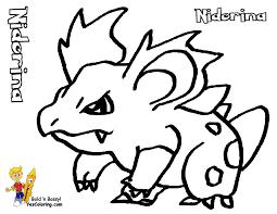 pokemon coloring pages bulbasaur nidorina gekimoe u2022 51019