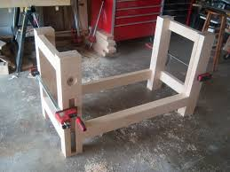 split top roubo bench build 14 final assembly of the base by