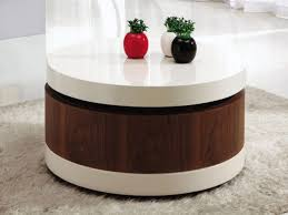 lovable round coffee table with storage coffee table all modern