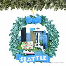 seattle snow globes ornaments souvenirs