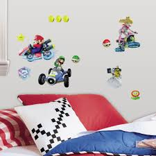 roommates mario kart 8 wall decals childsmart
