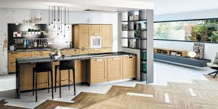 cuisine en bois massif moderne cuisine bois moderne truro chêne massif teinté