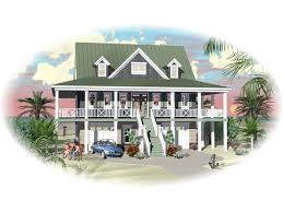 Waterfront Cottage Plans Howell Creek Raised Coastal Home Plan 087d 1557 House Plans And More