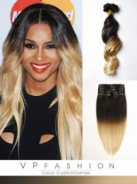 vpfashion hair extensions two colors ombre clip in hair extensions m1b27 m1b27 vpfashion