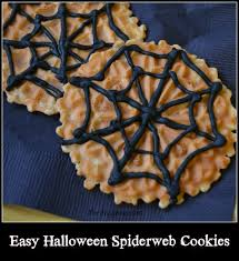 easy decorated halloween spiderweb cookies thrifty jinxy