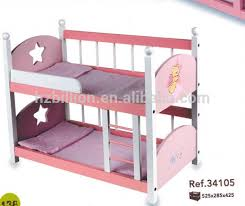 Baby Bunk Bed Personality 18 Inch Doll Cot Wooden Baby Bunk Bed Doll Furniture