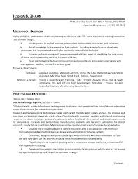 sample resume for engineers mechanical engineer resume sample
