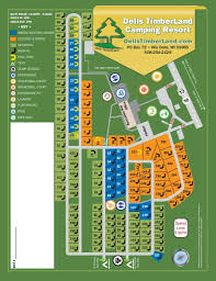 Map Of Wisconsin Dells by Campground Map Dells Timberland Camping Resort
