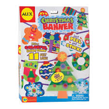 Amazon Com Alex Toys Craft It U0027s A Christmas Banner Decoration Kit