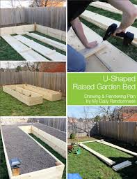 How To Make A Raised Vegetable Garden by How To Build A U Shaped Raised Garden Bed Drawing And Rendering